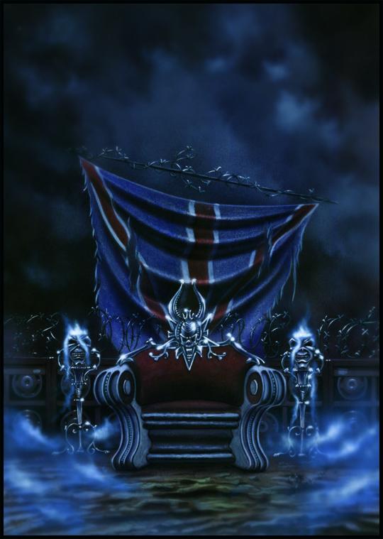 Iron Maiden. Tributo en ilustracion de aerografia por Carlos Diez. Estudio C10. Madrid.