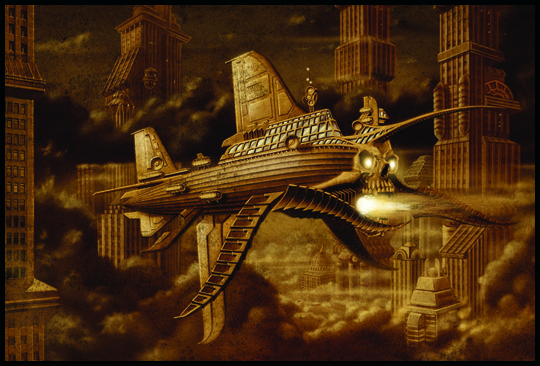 Led Zeppelin tributo en ilustracion de aerografia por Carlos Diez. Estudio C10. Madrid.