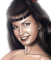 Pin-Up-Betty-Page-aerografo-aerografia-carlos diez