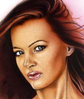 Roser Navarro-exótica-pin-up-ilustracion-aerografia