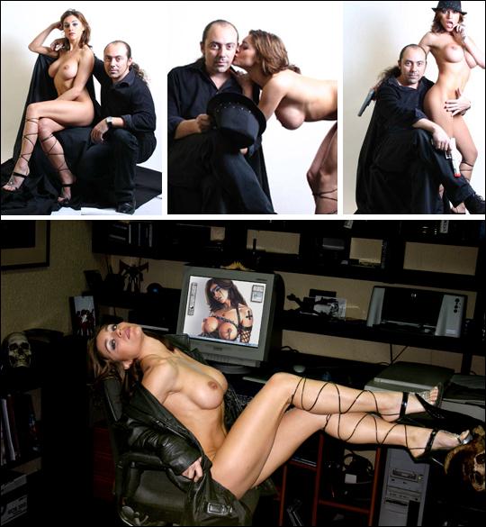 Carlos Diez con Diana Casado. Fotografias de sesion en plato. Fotografo profesional.