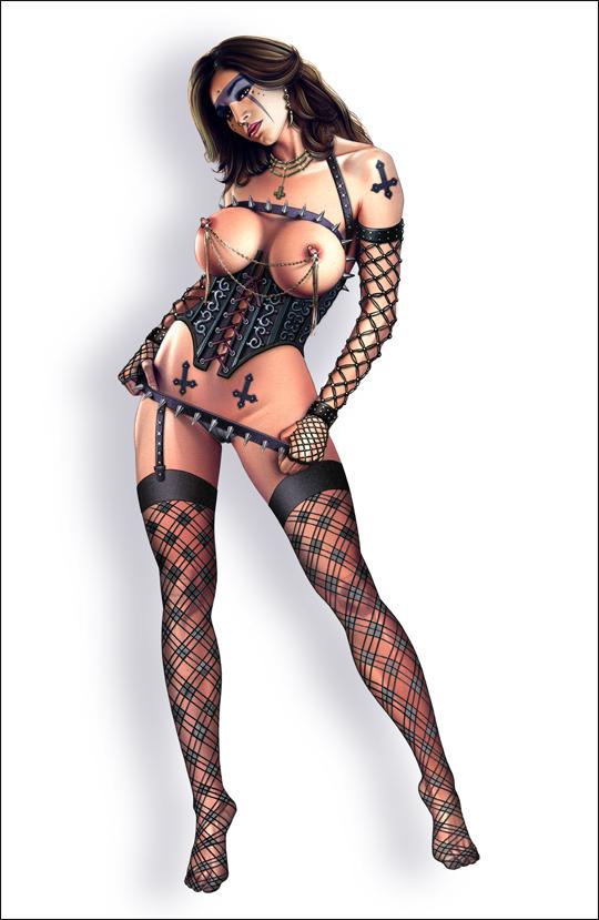 Diana Casado, bocetos. Sexy ilustracion de aerografia erotica pin up por Carlos Diez. Ilustrador de Madrid.