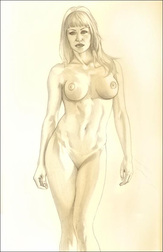 Gizane ilustración en aerografia aerografo de Carlos Diez. Ilustrador de Madrid.