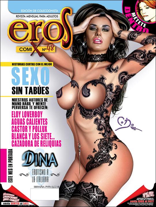 Tatuaje 2 portada aerografia ilustracion pin up Carlos Diez. Academia c10.