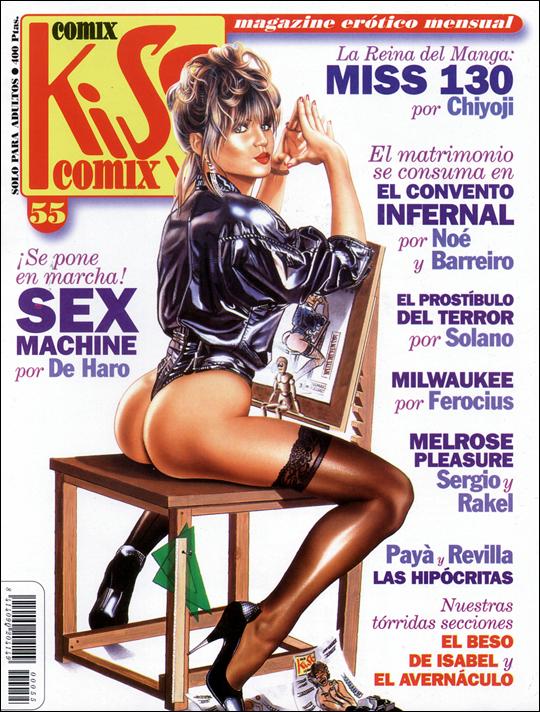 kiss-55-2-portada-aerografia-ilustracion-pin-up-Carlos-Diez-aerografo-madrid-academia-c10-cursos
