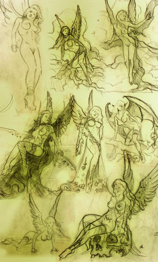 Ana Martin ilustracion aerografo aerografia Carlos Diez