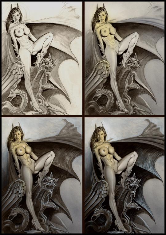 Bat-woman-3-ilustracion-aerografia-carlos-diez-bat-girl