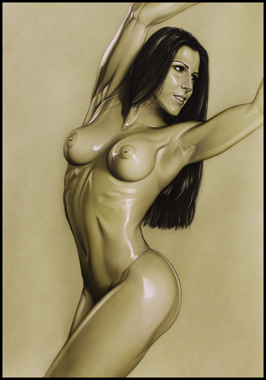 Carla Juaranz. Desnudo. Ilustracion aerografia aerografo. Carlos Diez