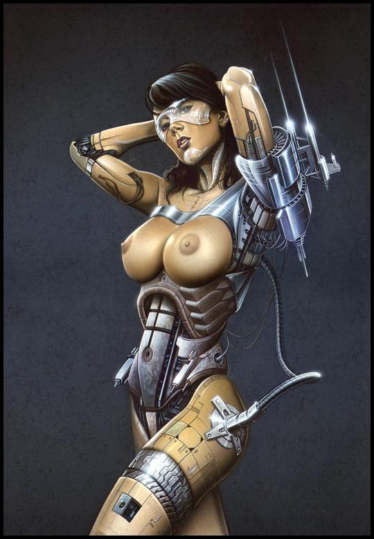 Sandra Galera.Ginoyde.Ilustracion en aerografia por Carlos Diez.Trabajo con aerografo.