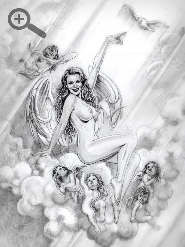 Paula Vazquez ilustracion aerografia Carlos Diez