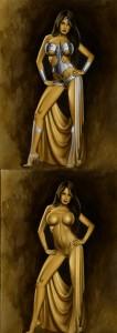 Wonder woman Ana Vilar ilustracion aerografia aerografo Carlos Diez