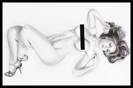 Ana Vilar. Ilustracion en aerografia con aerografo por Carlos Diez