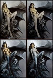 Batwoman-333-ilustracion-aerografia-carlos-diez-bat-girl
