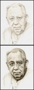Carlos Diez 3 Padre Retrato ilustracion aerografia