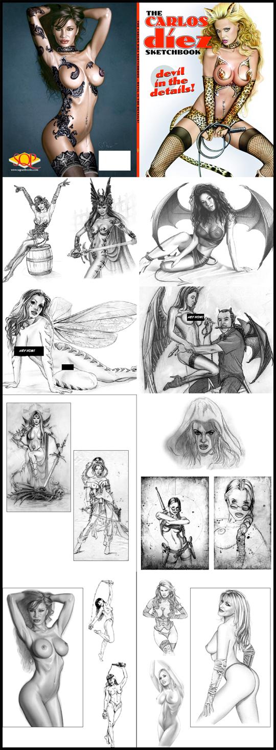 Carlos-Diez-nuevo-libro-ilustracion-aerografia-bocetos