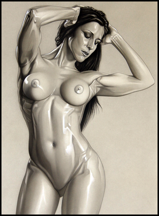 Carla-2-nudes-desnudos-exotica-ilustracion-aerografia-aerografo-carlos diez-ilustrador
