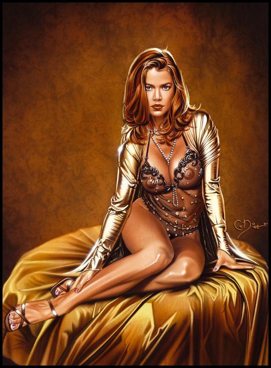 Gold-exotica-ilustracion-aerografia-aerografo-carlos diez-ilustrador