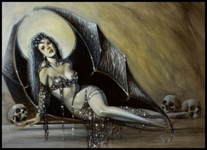 MoniKa Demon-3-exotica-ilustracion-aerografia-aerografo-carlos diez-ilustrador copia