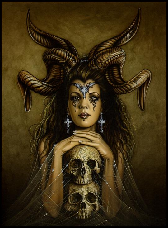 MoniKa Demon-exotica-ilustracion-aerografia-aerografo-carlos diez-ilustrador