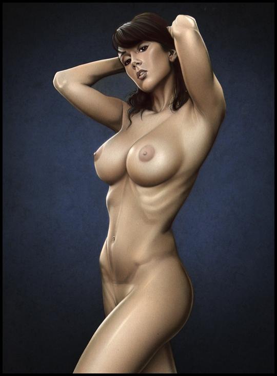 Sandra-nudes-desnudos-fantasy-exotica-ilustracion-aerografia-aerografo-carlos diez-ilustrador