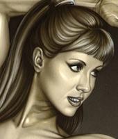 carla juaranz en aerografia por Carlos Diezpin-up-ilustracion-aerografia