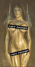 Natalia Z transformación en mujer gótica. Ilustracion de aerografia de Carlos Diez