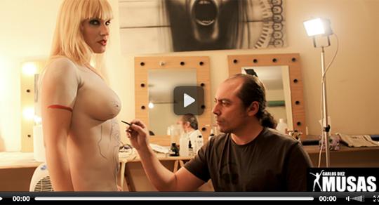 Body painting para maquillaje corporal con aerografo aerografia de Carlos Diez