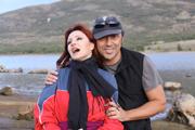 Carlos y Galatea en sesion de fotografias de exteriores