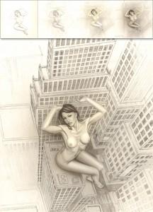 Galatea-ilustracion-aerografia-pin-up-perspectiva-carlos-diez-lapiz