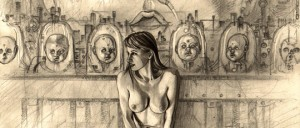 Carlos Diez ilustracion erotica a lapiz. Diseñador e ilustrador de moda Pin Up