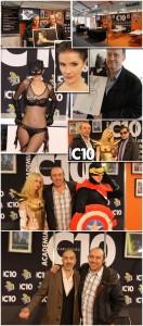 Stand de academia c10 en expocomic de madrid 2012 Cursos de comic, aerografia e ilustracion