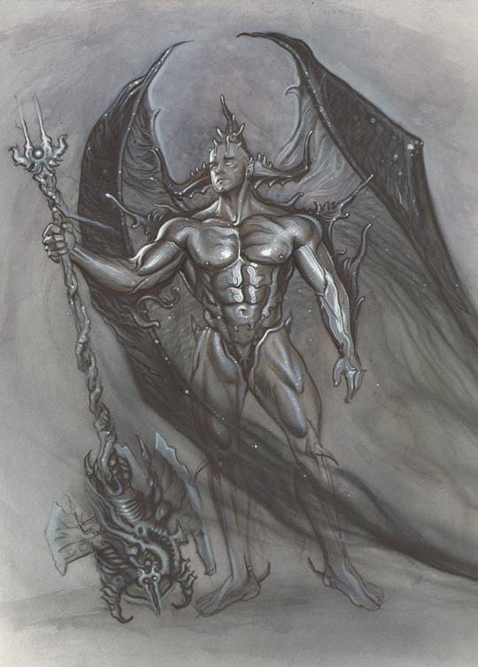 ilustracion de moda fantasia heroes del ilustrador Carlos Diez. Aerografia. Aerografo y tecnicas mixtas 2.