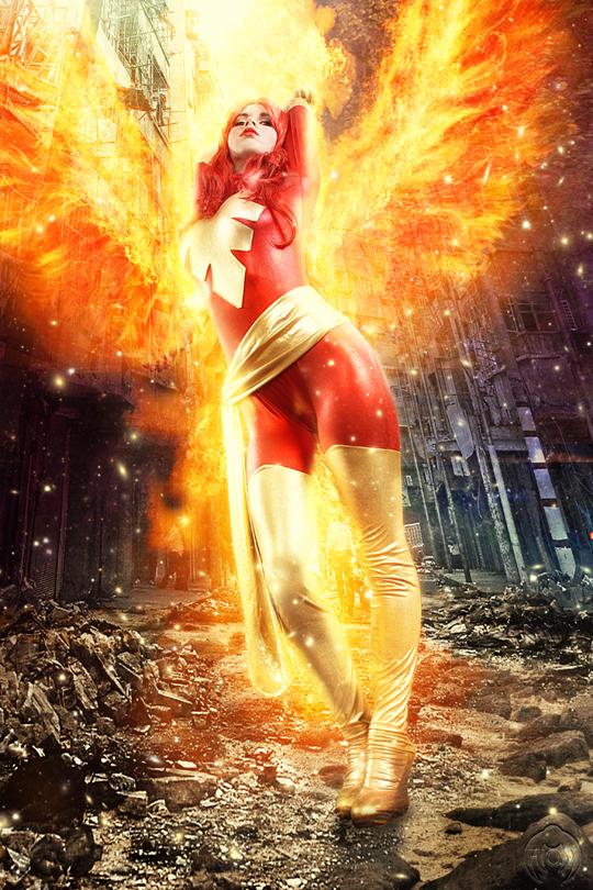 Carlos Diez MUSAS Phoenix super heroinas comic Fotografia Fotografo moda Pin Up
