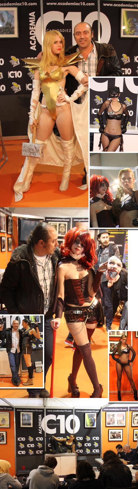 Diseno de moda para Super heroes y heroinas con Carlos Diez  en  Academia C10 de Madrid