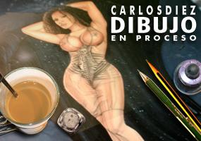 Ilustracion y diseño moda pin up fantasia Carlos Diez dibujante ilustrador diseñador super heroinas vampiros