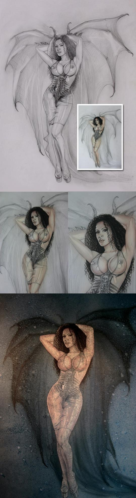 Ilustracion y diseo moda pin up fantasia Carlos Diez dibujante ilustrador disenador