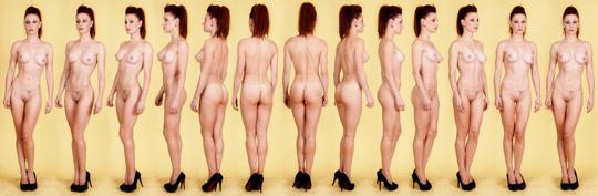 Rotacion desnudo artistico secuencia para ilustracion pin up anatomia 1
