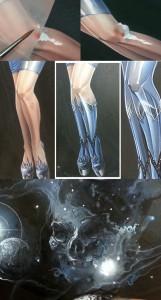 ilustracion de moda fantasia heroes del ilustrador Carlos Diez. Aerografia. Aerografo y tecnicas mixtas