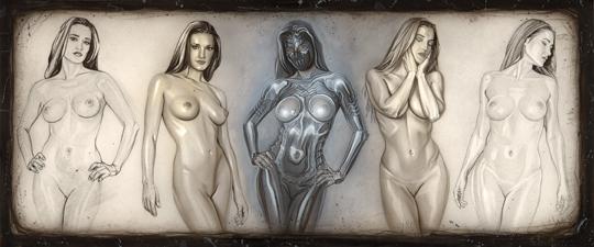 Ilustracion de moda ciencia ficcion heroes super heroinas del ilustrador Carlos Diez. Aerografia 3.