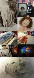 Academia-c10-trabajos-alumnos-cursos-comic-aerografia-madrid