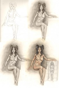 carlos-diez-ilustracion-boceto-lobezno-munecas-dibujo-fantasia