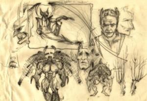 carlos-diez-ilustracion-boceto-lobezno-super-heroes-dibujo-fantasia-marvel