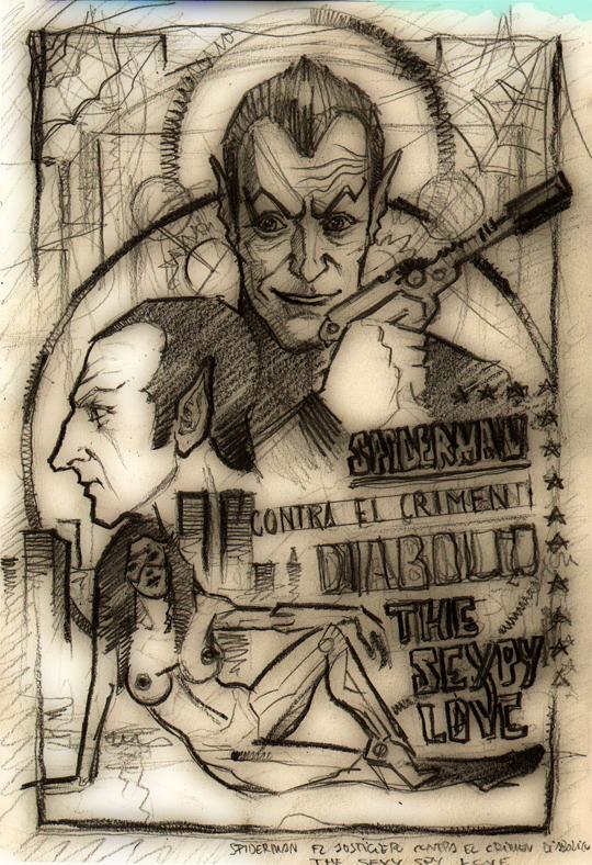 carlos-diez-ilustracion-boceto-spider-super-heroes-dibujo-fantasia-marvel