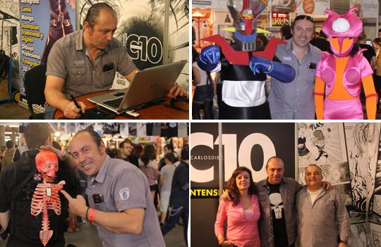 carlos diez autor invitado en expomanga feria comic manga madrid