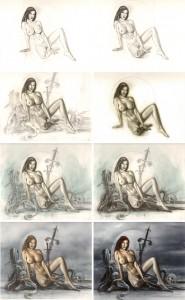 carlos-diez-ilustracion-boceto-red-sonja-super-heroes-dibujo-fantasial-comic