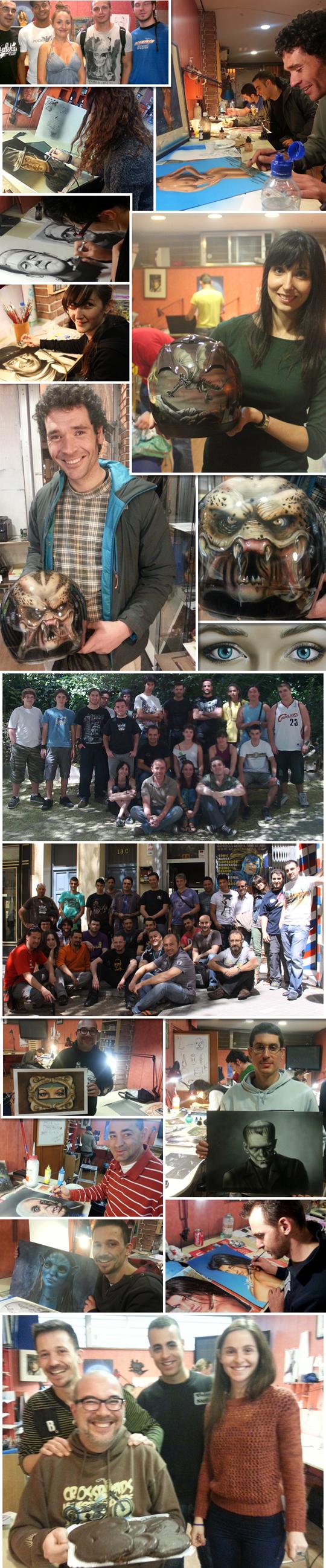 cursos intensivos de verano de aerografia en academia c10 con Carlos Diez