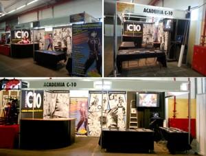 stand academiade cursos c10 en expomanga feria comic manga madrid