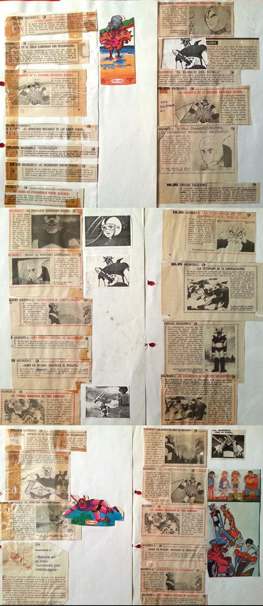 mazinger-mazinguer-z-carlos-diez-merchandishing-fotos-prensa-cromos-dibujos-ilustraciones