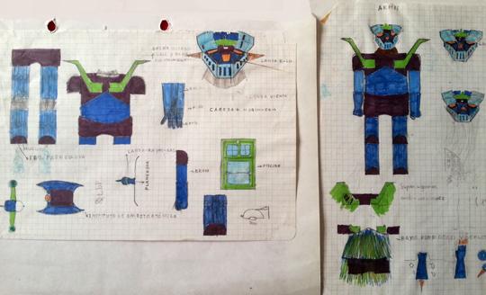 mazinger-mazinguer-z-carlos-diez-merchandishing-fotos-prensa-cromos-dibujos-ilustraciones-tp