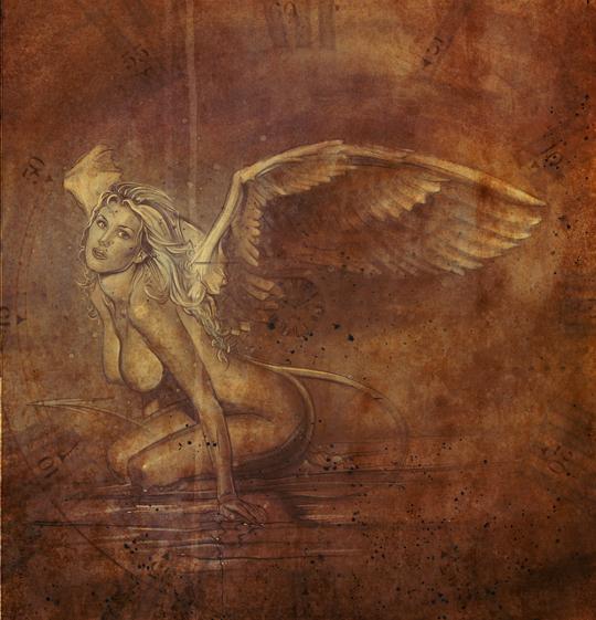 aerografia-Malena-Gracia-aerografo-ilustracion-pin up-carlos diez-dibujante-madrid-mujer-angel-desnuda-desnudo-artistico
